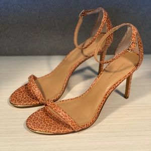 NWOT Tan Leopard heels